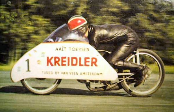 Kreidler-  Aalt Toersen, attempt at record for 50cc, Elvington RAF 1968