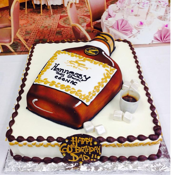 Hennessey Bottle Cake 21st Birthday Cakes 19th