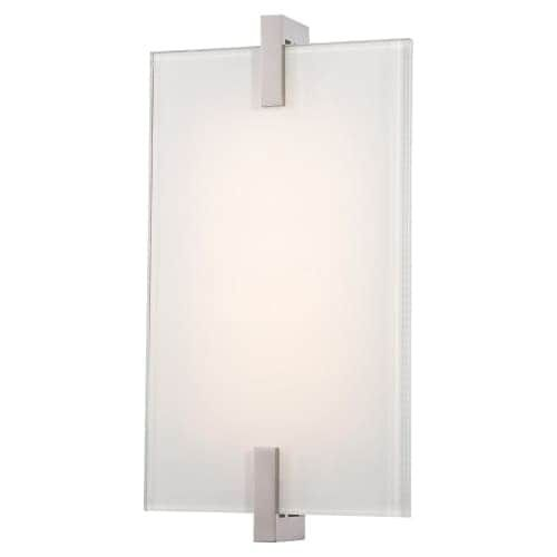 Kovacs P1110-L Hooked Single Light 6 Wide Integrated LED Bathroom Sconce with Frosted Glass Diffuser - ADA Compliant, White