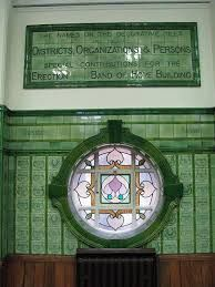 green tiled building - Google Search