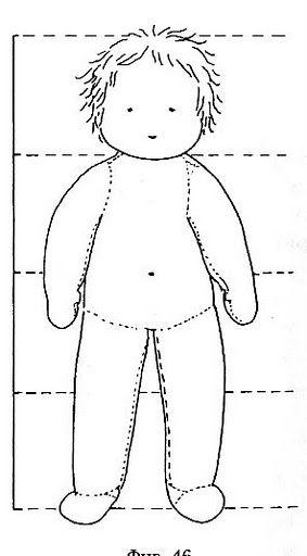 waldorf doll pattern 60 cm