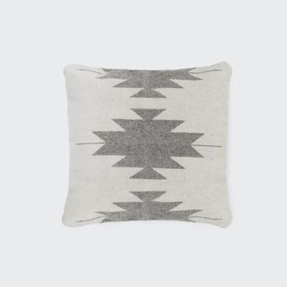 The Citizenry. Grey and Cream Wool Pillow S&D LR