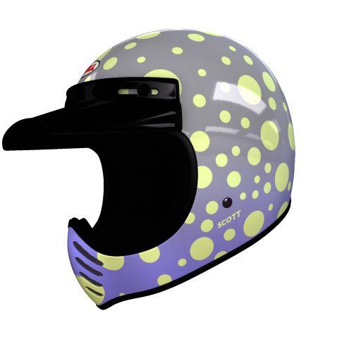 helmade Moto-3 Dots Check this out! Mein ganz persönliches #helmade Design auf helmade.com :https://www.helmade.com/de/helmdesign-bell-moto-3-dots-vintage-motocross-helm.html
