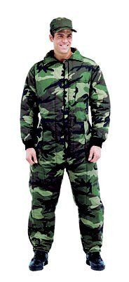 7015 Mens Camouflage Insulated Coveralls (Large)