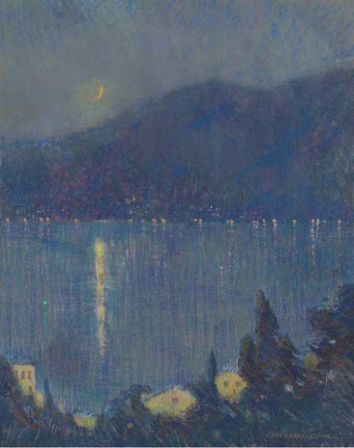 Nocturne, Lake Como:Charles Warren Eaton  (American 1857-1937).