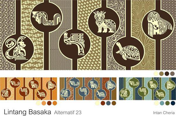 Contemporary batik - color pallets
