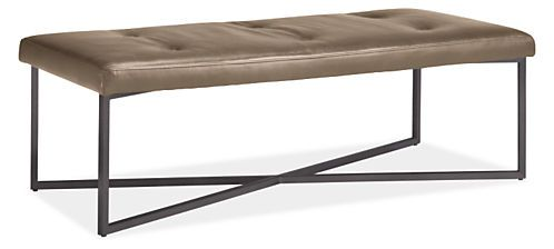 Sidney Leather Ottoman - Modern Fabric & Leather Ottomans - Modern Living Room Furniture - Room & Board