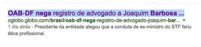 PROF. FÁBIO MADRUGA: Presidente da OAB-DF pede que seja negado registro...