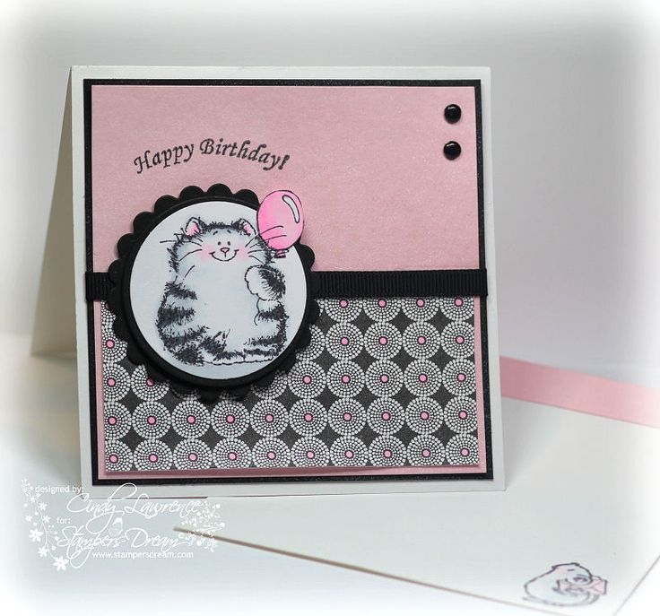 Penny Black It 39 S Your Day Cat Stamped Colored With
