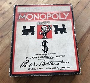 Vintage Monopoly Game 1936 Wooden Pieces Properties No Board Parker Brothers 30s | eBay