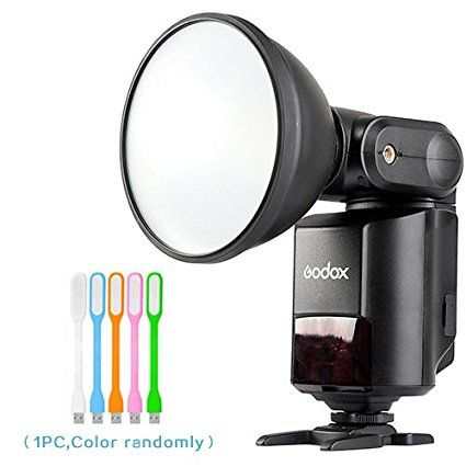 Godox Witstro AD360II-C TTL 360W GN80 External Powerful Portable Speedlite Flash Light LCD Panel for Canon Digital Camera + HuiHuang USB LED free gift