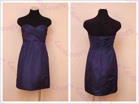 Cute Sexy Modest Elegant Plus Size Short Prom Gowns Purple Party Bridesmaid Dresses For Wedding Junior 2014 Formal 2013 Dress Simple ll218 on Etsy, $98.00