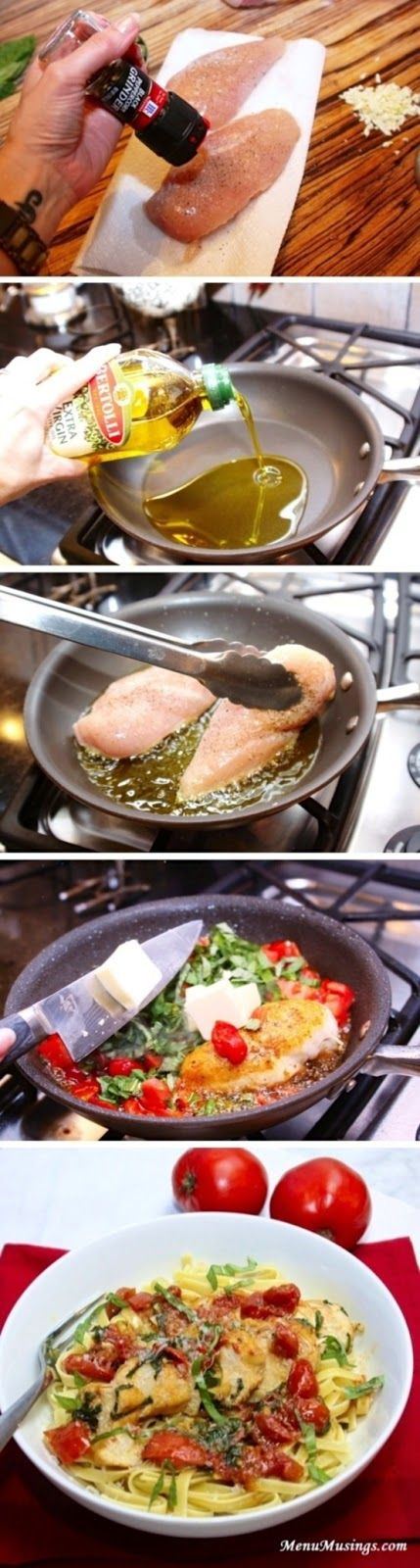 Tomato Basil Chicken, I'll be able to make this with fresh tomatoes and basil from my garden soon!!!!