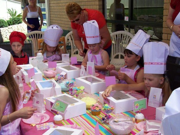 Cupcake PARTY - I love the hats and boxes! This would be so much fun for the girls and their friends!