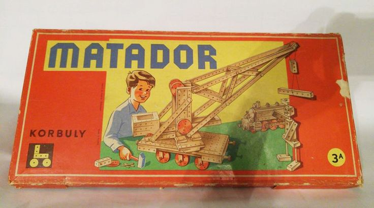 Antique 1959 Matador 3A Korbuly wooden kit game vintage construction toy Austria