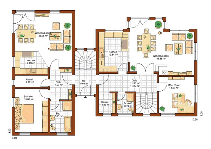 1253 best images about homes architecture design for Stadtvilla plan