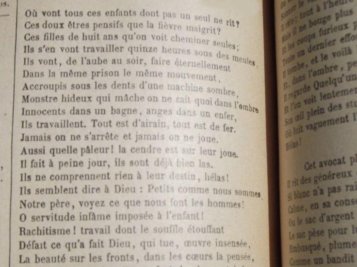 «Où vont tous ces enfants... » Extrait le plus connu de Melancholia, un poème des Contemplations, de Victor Hugo, dit par P.-F. Kettler, présenté à livre ouvert.