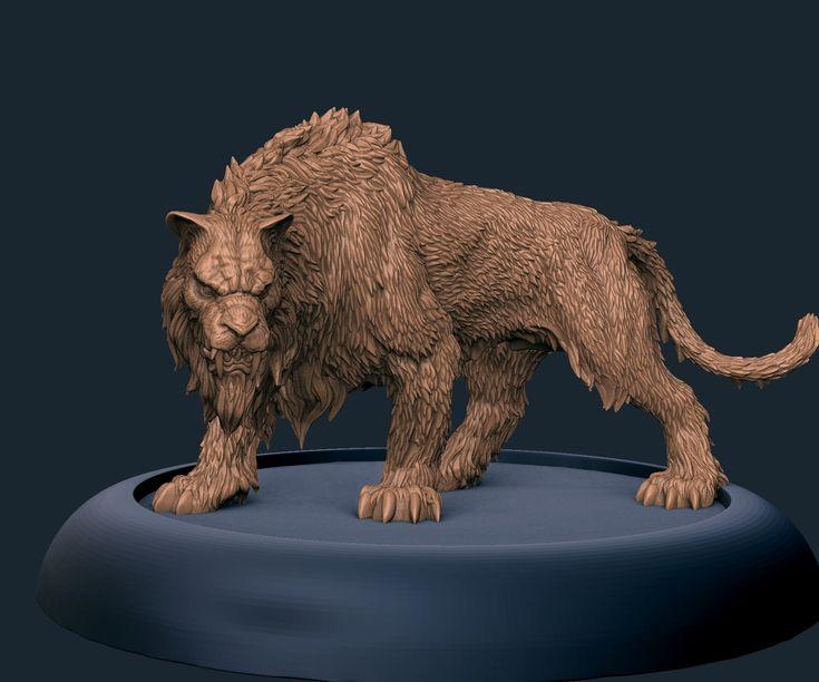 """ArtStation - """"Sabretooth-tiger"""" for Conan game, Laslo Forgach"""