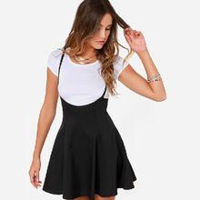 Vestido de verano, negro de cintura alta de liga de la colmena delgada correa una línea estilo preppy casual para mujer las señoras WD2033(China (Mainland))