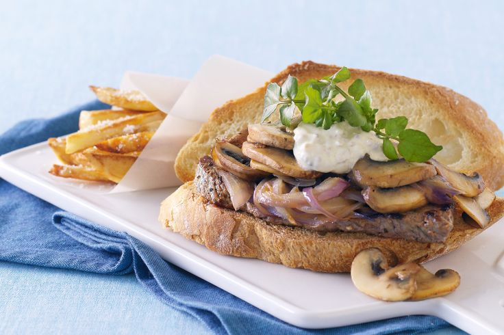 Theres no need to head to the pub for a great steak sandwich - this one has it all!