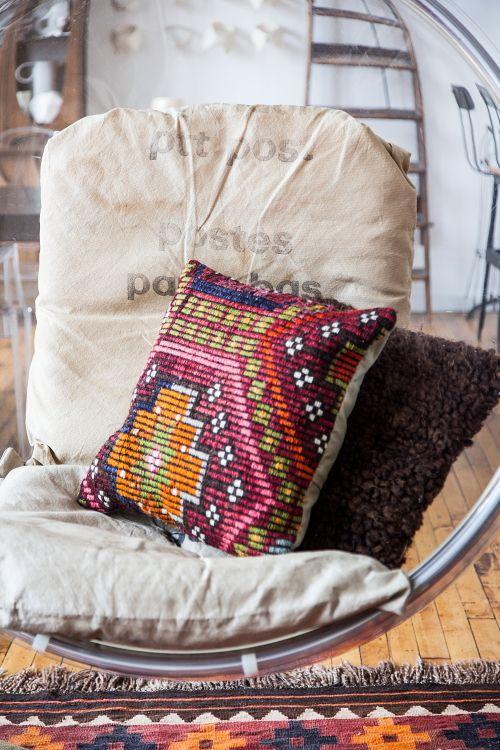 Design Sponge Throw Pillows : Sneak Peek: An Eclectic Philadelphia Loft. Design*Sponge Sneak Peeks Pinterest An, Bags ...