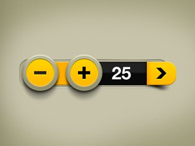 Dribbble - Yellow Counter by Rodolfo