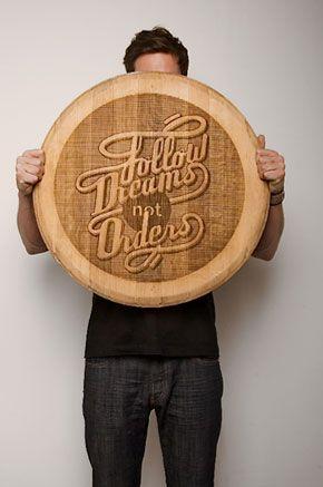 Wood Typography Engraving