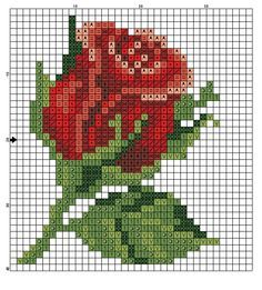 Rose flower perler bead pattern, might also make a nice quilt pattern
