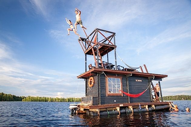 Saunalautta – Ein Sauna-Hausboot aus Finnland | KlonBlog