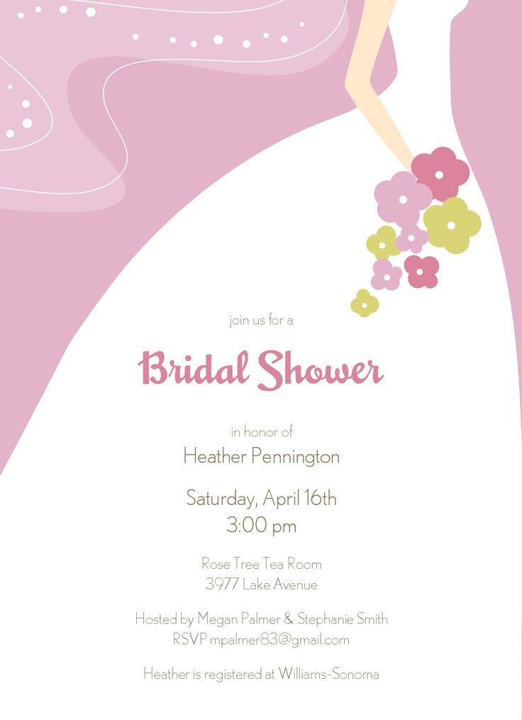 594 best Free - Printables parties - Invitation images on - bridal shower invitation samples