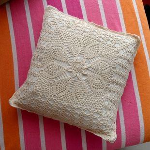 bestr販売デザインハンドメイドのかぎ針編みの枕カバー綿100%正方形のクッションカバー40cm家の装飾のための