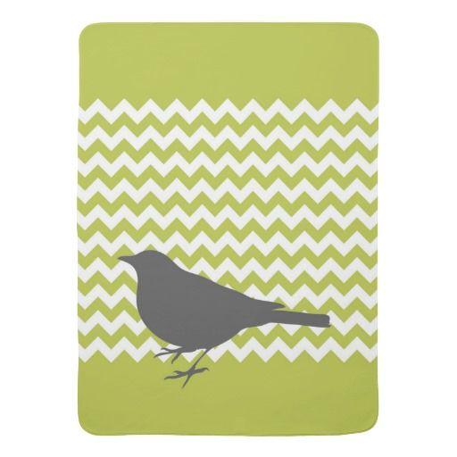 De groene Vogel van de Chevron - de Deken van het  Baby Dekentje