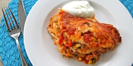 Fajitas make for a fun dinner when everyone wants to assemble their own, but if you are looking for a make-ahead tasty meal to feed a crowd, this version of lasagna, which uses tortillas in place of pasta, definitely fits the bill.
