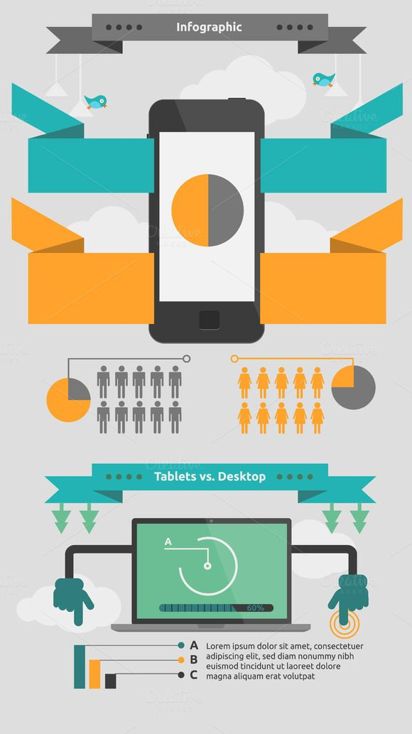 Check out Mobile infographic by dana.costin on Creative Market