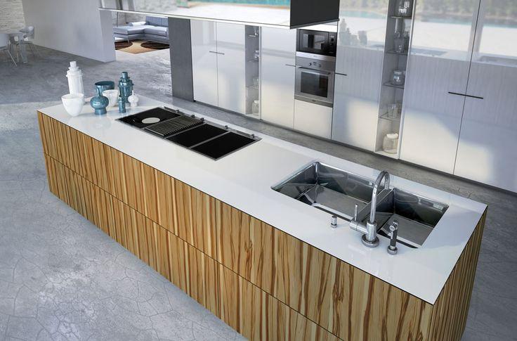Monolite model, peninsula kitchens. #sciccucine