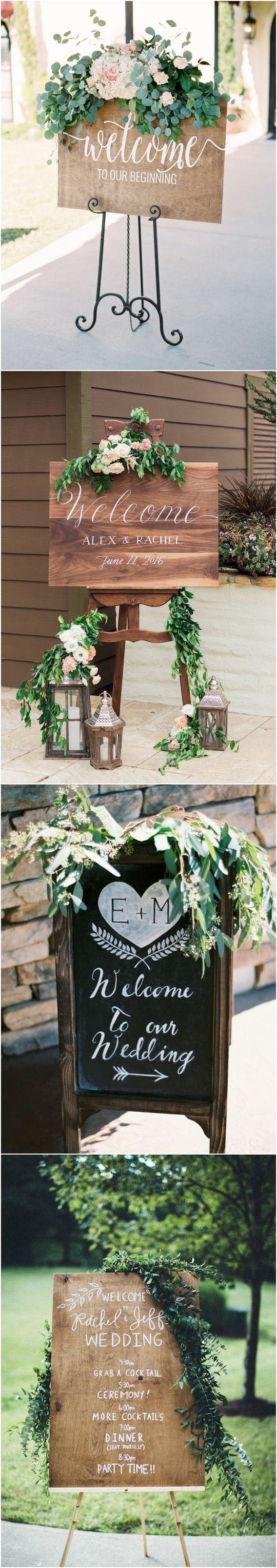 Wedding welcome display