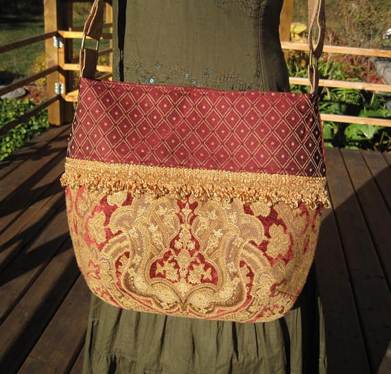 Beautiful Vintage Rich Red and gold with Gold coloured trim