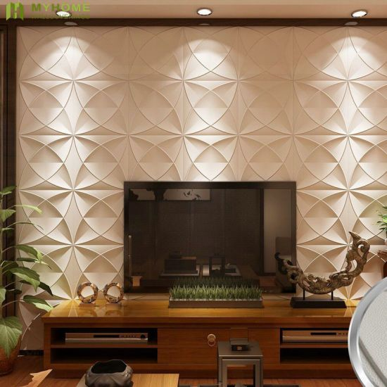 Interior Decoration Wall 3D PVC Wall Panel with Waterproof