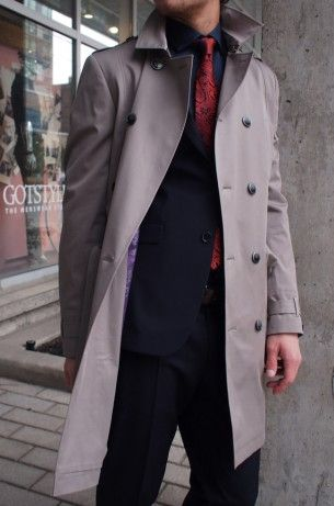 Ted Baker trench coat $695 from Gotstyle Menswear.Coats 695, Dapper Menswear, Ted Bakers, Tailored Trench, Coats Obsession, Gotstyl Menswear, Trench Coats, Coats Ted, Bakers Trench