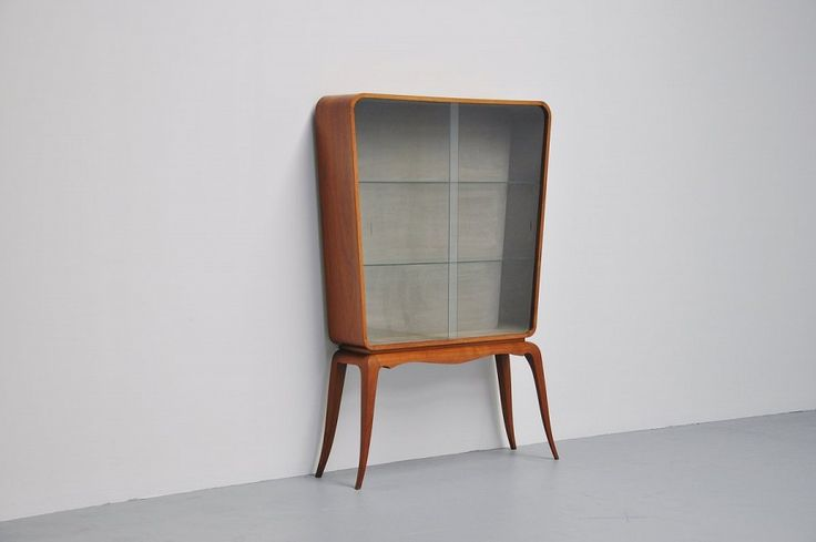 Paolo Buffa Walnut Showcase Italy 1950 | Mass Modern Design