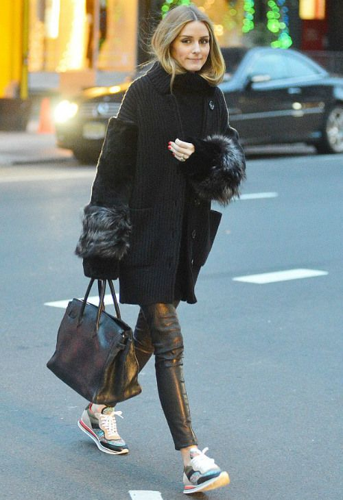 12/16 #オリビア・パレルモ #ファースリーブニットコート #レザーパンツ #バーキン  海外セレブ最新画像・私服ファッション・着用ブランドまとめてチェック DailyCelebrityDiary*
