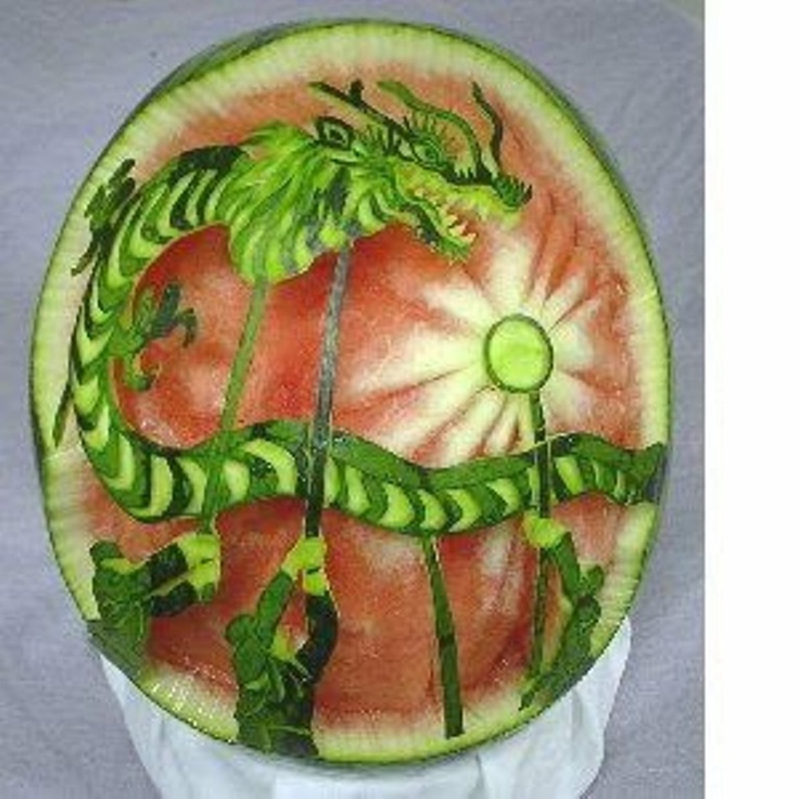 Best carving images on pinterest food art fruit