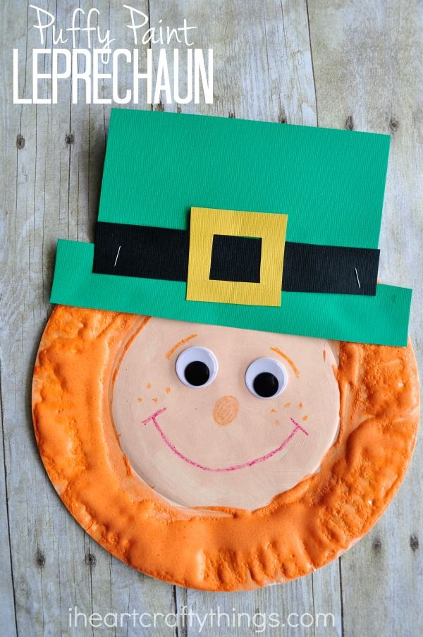 puffy paint leprechaun craft - Things For Kids To Paint