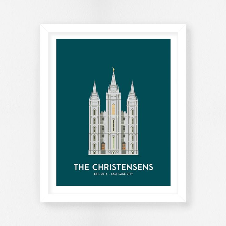Salt Lake City LDS Temple || SLC Temple || Salt Lake Temple || LDS Temple Prints