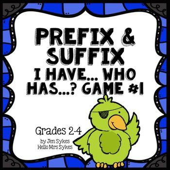 This is my one of my students' favorite games! Prefix and Suffix Game #1 Common Prefixes &... by Hello Mrs Sykes - Jen Sykes | Teachers Pay Teachers