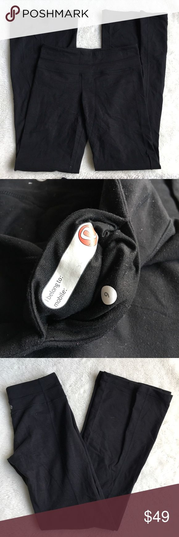 Lululemon Black Pants size 6 Pre-owned authentic Lululemon Black Pants size 6. Please look at pictures for better reference. Happy Shopping! lululemon athletica Pants