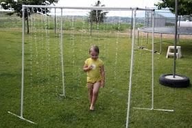 """Six Sisters' Stuff: PVC Pipe Sprinkler """"Kid Wash"""" Tutorial"""