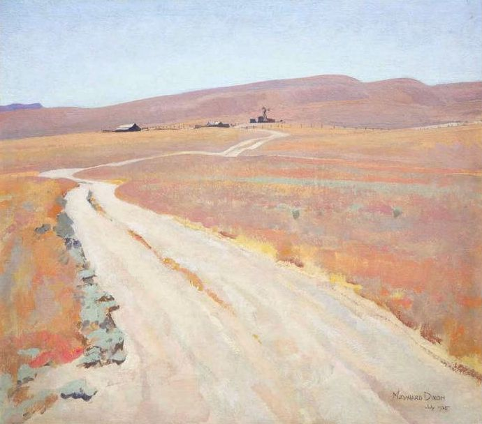 Maynard Dixon (1875-1946). Abandoned Ranch, 1935. Oil on Canvas, 22.75 x 26 in.