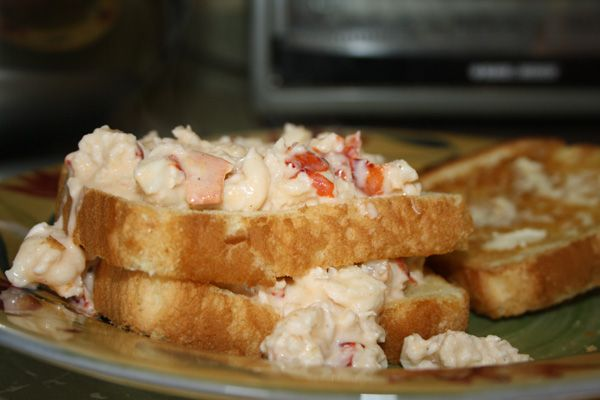 Creamed lobster, also known as hot lobster. Traditional recipe from Yarmouth & Acadian Shores. This is delicious!!