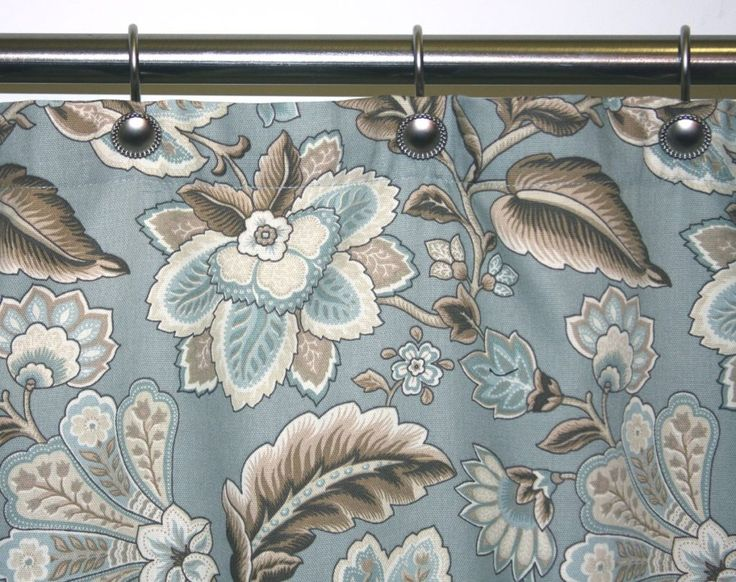 Floral Print Fabric Shower Curtains
